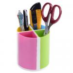 Suport cilindric pentru articole birou, plastic ABS, 4 compartimente, KEJEA