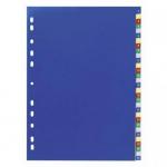 Index plastic color A4, numeric 1-31, OPTIMA