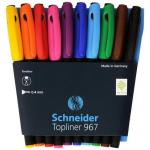 Liner cu varf fetru, 0.4 mm, 10 culori | set, SCHNEIDER Topliner 967