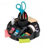 Suport rotativ echipat pentru articole birou, plastic ABS, 3M