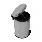 Cos metalic cu pedala, 12 litri