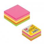 Cub notite autoadeziv, 51x51 mm, 5 culori neon, 250 file/buc, 3A