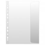 Folie protectie documente A4, clapa laterala, 100 microni, 10 bucati | set, DONAU