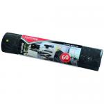 Saci menajeri cu snur, LDPE, 60 litri, 10 buc | rola, OFFICE PRODUCTS