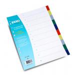 Separatoare plastic A4, 10 file, 2x5 culori | set, EXXO