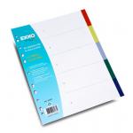 Separatoare plastic A4, 5 culori | set, EXXO