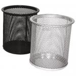 Suport cilindric pentru articole birou, plasa metalica | mesh, FORNAX