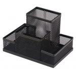 Suport pentru articole birou, plasa metalica | mesh, 4 compartimente, 3A