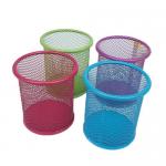 Suport cilindric pentru articole birou, plasa metalica | mesh, color, 3A