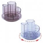 Suport rotativ pentru articole birou, plastic ABS, 7 compartimente, KEJEA