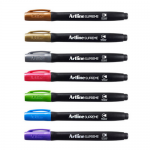 Marker permanent, cerneala metalizata, varf rotund 1 mm, ARTLINE Supreme Metallic