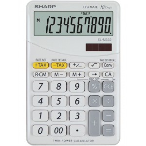Calculator de birou, 10 digits, gri, SHARP EL-M332