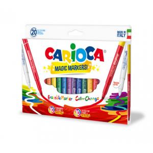 Carioca lavabila, cu rescriere, 20 culori | cutie, CARIOCA Magic Markers